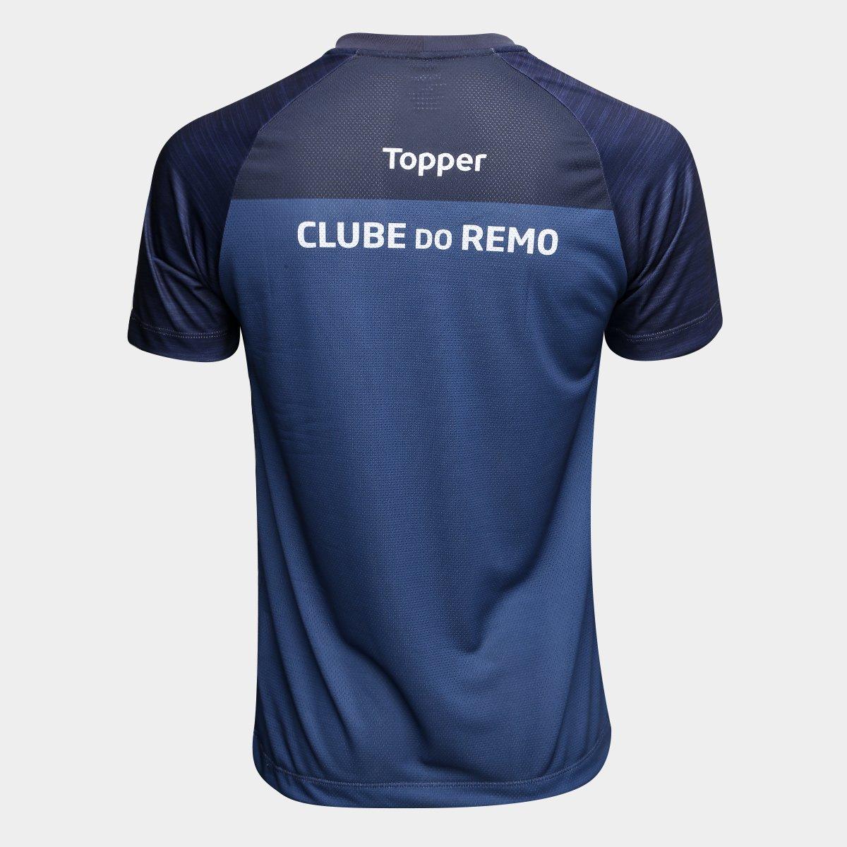 Camisa de Treino Remo Topper Masculina - Azul - Compre Agora  653b69181aacb