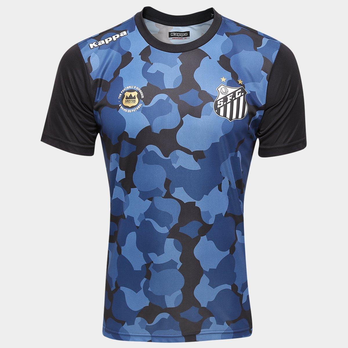 2968fa8950e50 Camisa de Treino Santos Pre Match 2016 Kappa Masculina - Compre Agora