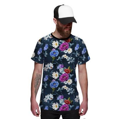 Camisa Di Nuevo Jardim Florido Style Masculina - Masculino