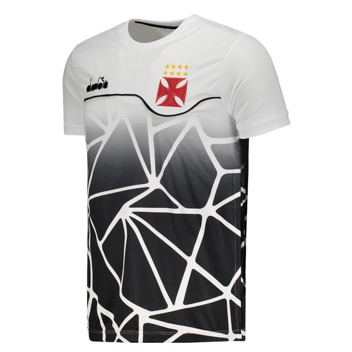 Camisa Diadora Vasco Concentração 2018 Masculina - Branco - Compre ... 856b9241fff11