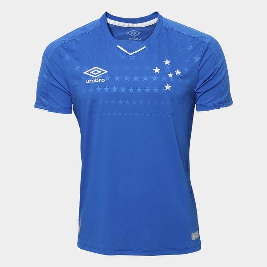 Menor preço em Camisa do Cruzeiro I 19/20 s/n° Torcedor Umbro Masculina - Azul e Branco