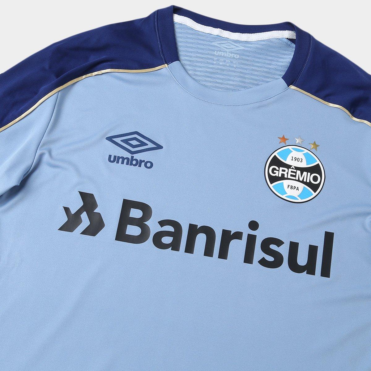 Camisa do Grêmio 2019 Treino Umbro Masculina - Azul - Compre Agora ... d36a8f2415f48