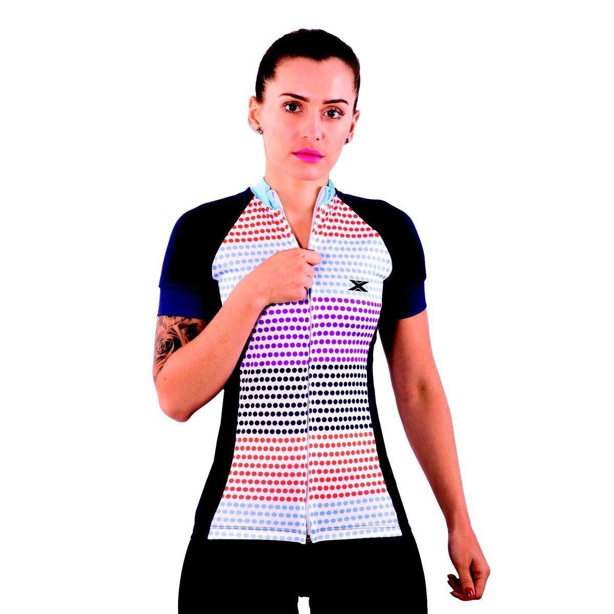 Feminina DX3 Camisa Azul DX3 Camisa Ciclismo CYCLE 81007 zgwEq7qIx