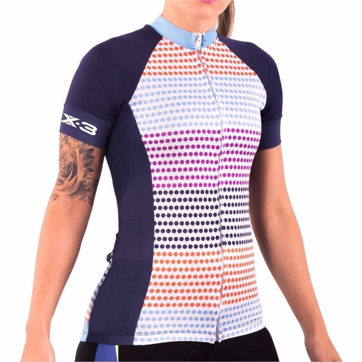 Camisa DX3 Azul Feminina CYCLE Feminina Ciclismo 81007 Ciclismo DX3 81007 Camisa Azul CYCLE q4AwTFC