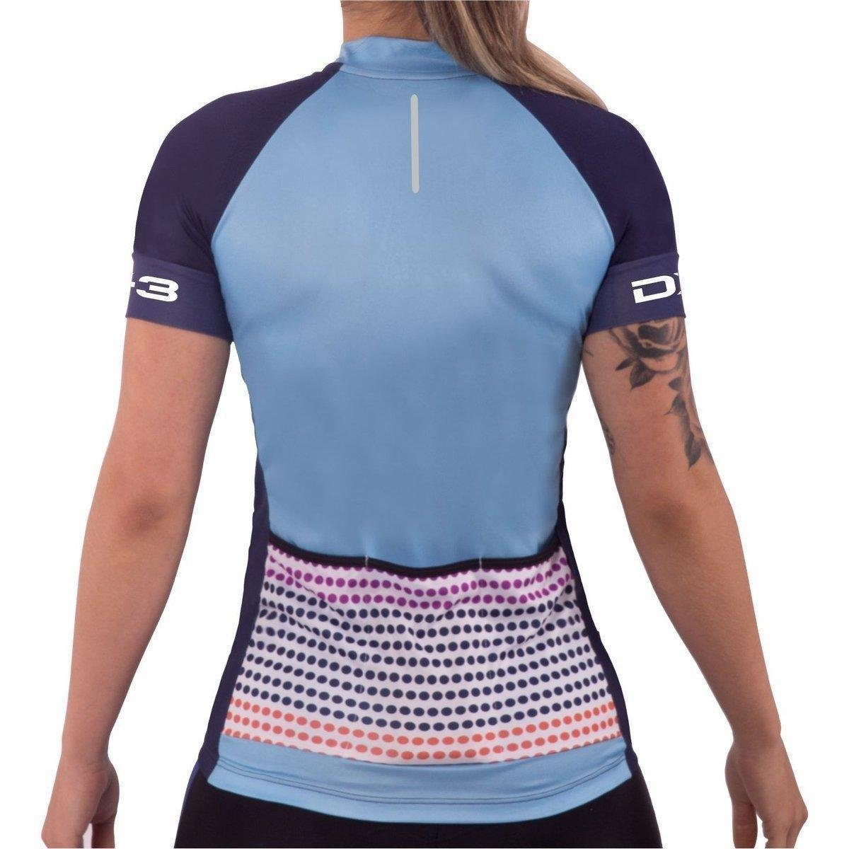 DX3 Ciclismo CYCLE 81007 Camisa Camisa Feminina DX3 Azul TwqXZ1E