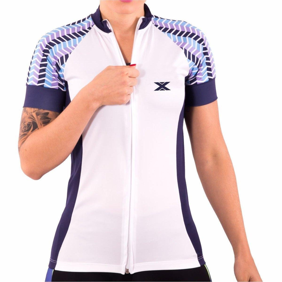 DX3 Ciclismo 81011 Camisa Camisa XPOWER Feminina Branco DX3 qgvvBwf