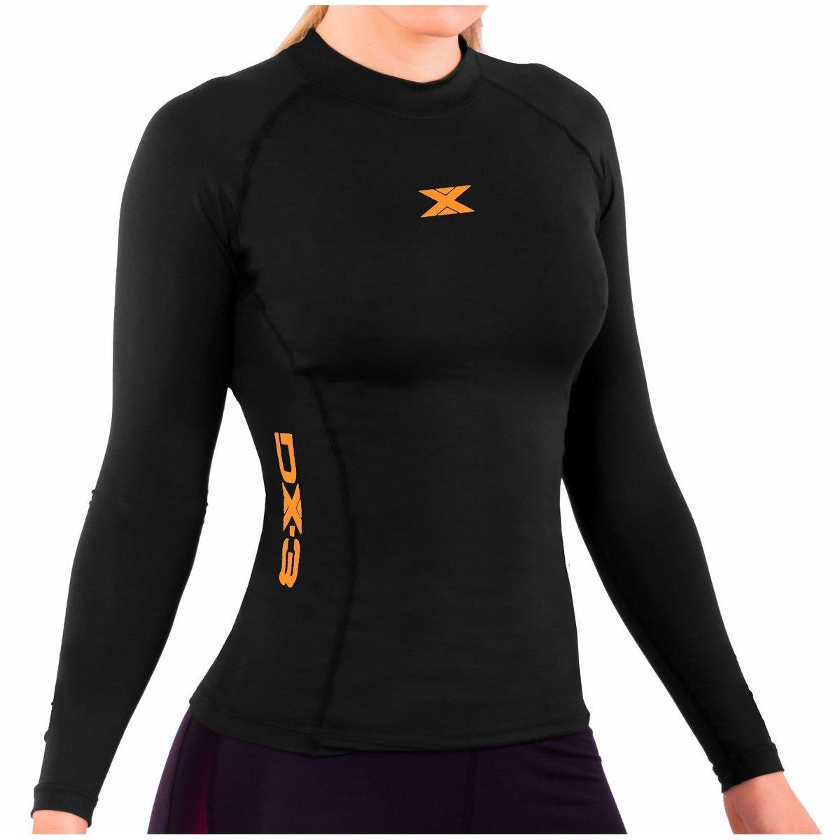 ... Camisa DX3 XSOFT Feminina Manga Longa Corrida Fitness Trekking 91028 ... 612aca920cc8b