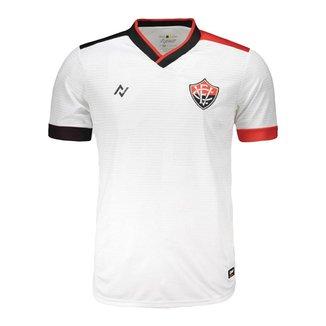 Camisa EC Vitória 2021 Oficial Away Branca Nego
