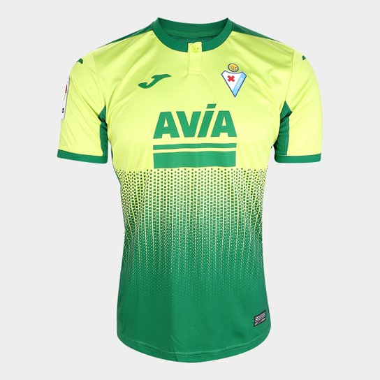 Camisa Eibar Away 19/20 s/nº Torcedor Joma Masculina - Verde Claro+Verde