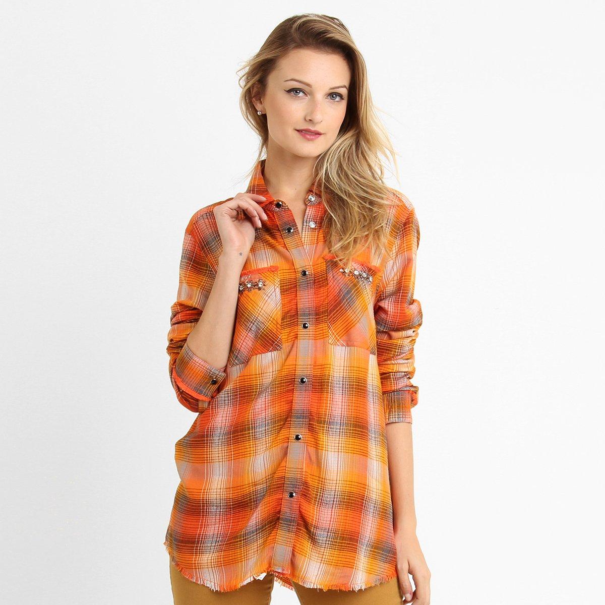 dc08afa93ab0e Camisa Ellus Xadrez Bordada - Compre Agora