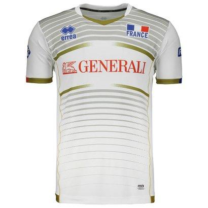 cbc31464e99de A Camisa Errea França Vôlei Away 2017 é confeccionada em poliéster e  elastano
