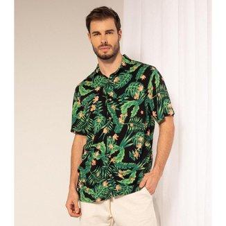 Camisa Estampada Manga Curta Rovite Masculina
