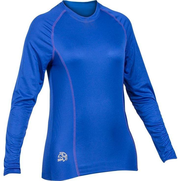 Proteção Azul Fator Camisa L Escuro UV50 de M Feminina qvxAa