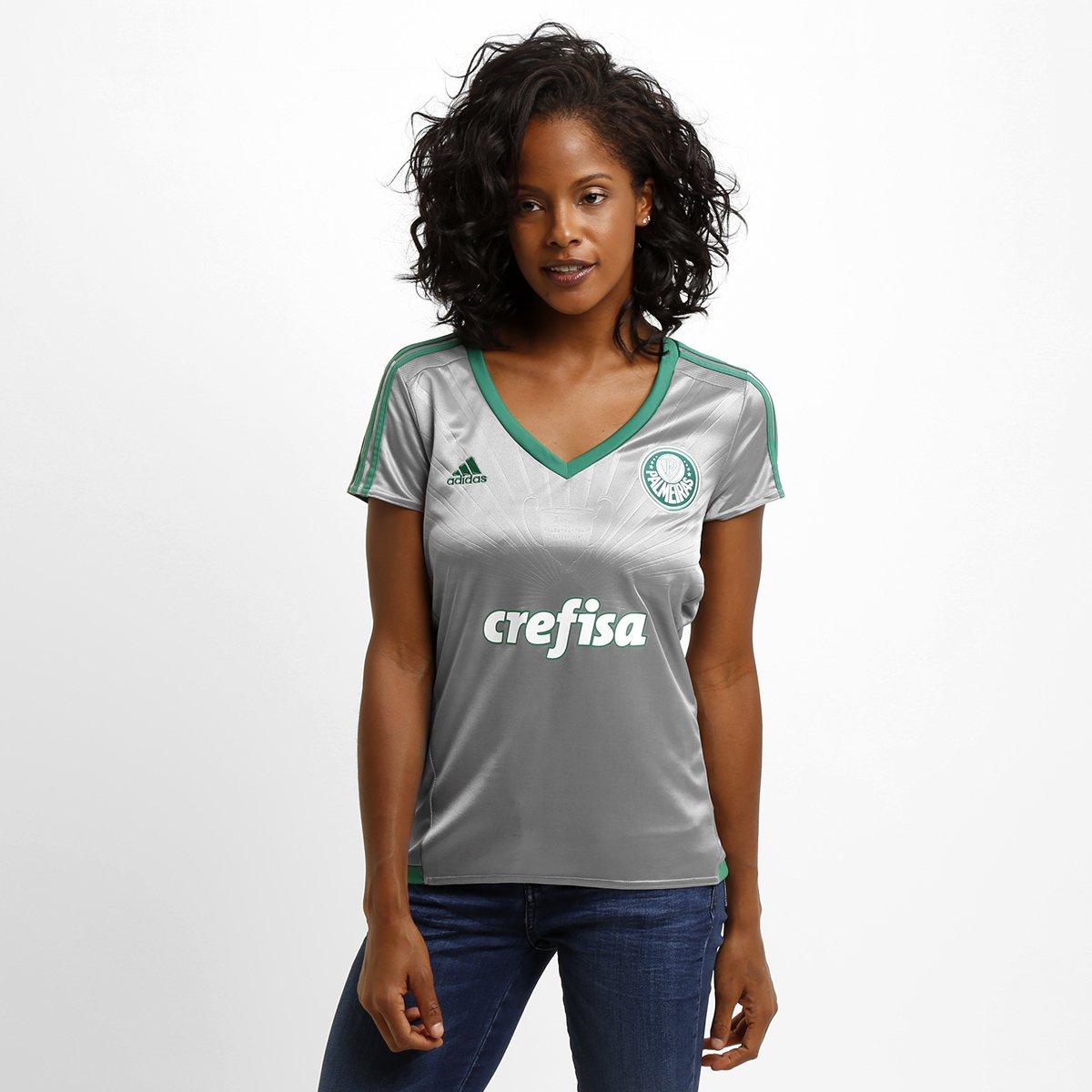 b211efaf45d1f Camisa Feminina Adidas Palmeiras III 15 16 s nº - Compre Agora ...