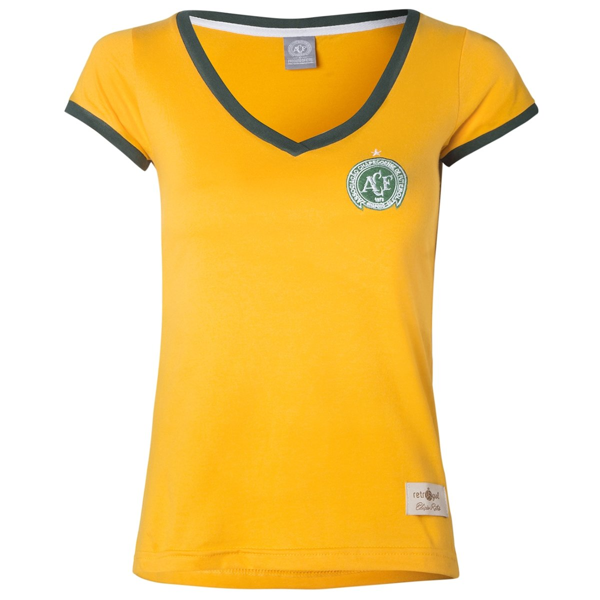 Seleção Baby Feminina Brasil Retrô Torcedor Amarelo Camisa Chapecoense Gol Look Yd5vPWq