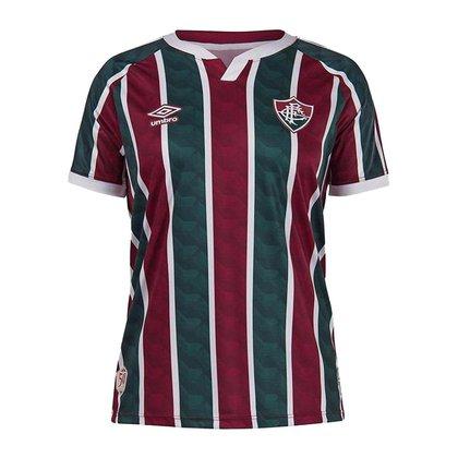 Camisa Feminina Fluminense 2021 Home Tricolor Oficial S/N