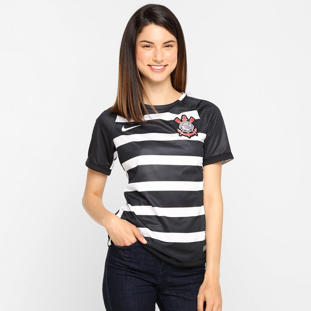 Camisa Feminina Nike Corinthians II 15 16 s nº - Compre Agora  e6fc9fe105fc8