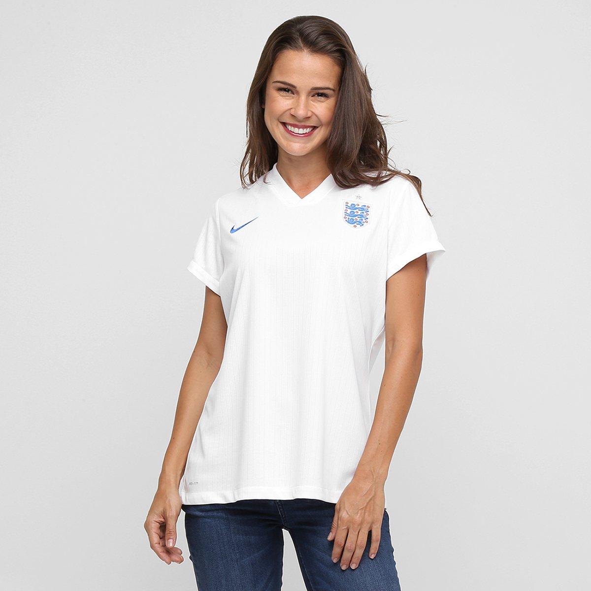 81e7813b08 Camisa Feminina Nike Seleção Inglaterra Home 2014 s nº - Compre Agora