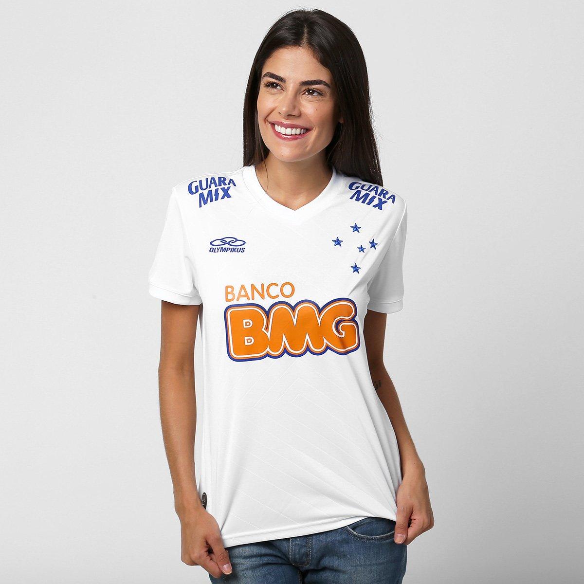 Camisa Feminina Olympikus Cruzeiro II 2014 n° 10 - Compre Agora ... b2854d82f336c