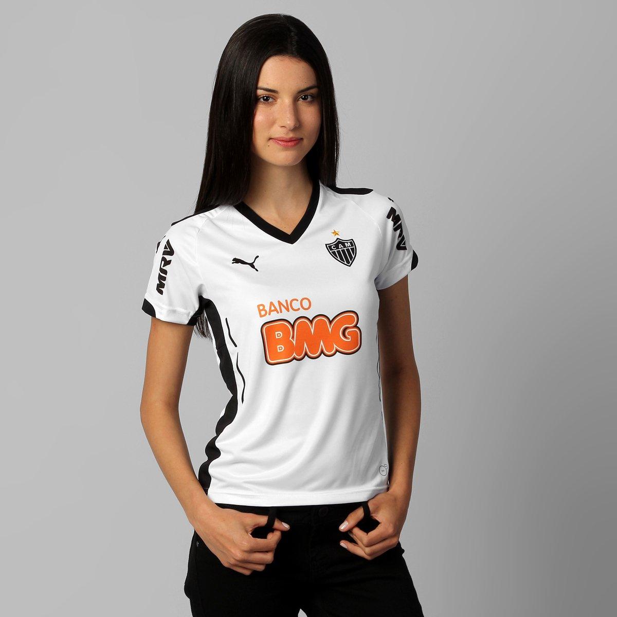 Camisa Feminina Puma Atlético Mineiro II 2014 s nº - Compre Agora ... a0e758843a144