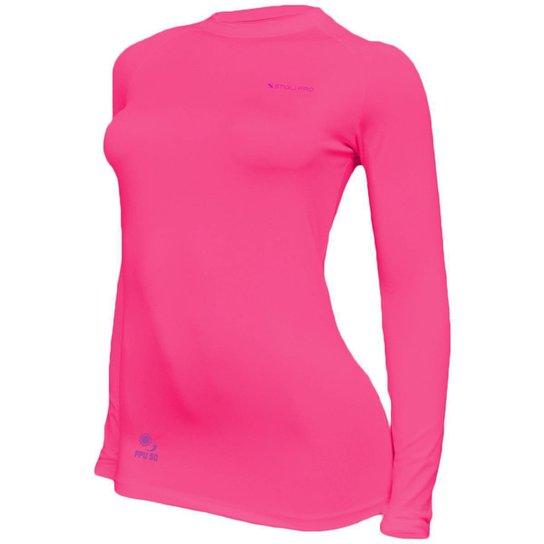 Camisa Feminina Térmica Stigli Pro Proteção Solar FPU 50 Manga Longa Luna Poliamida - Rosa