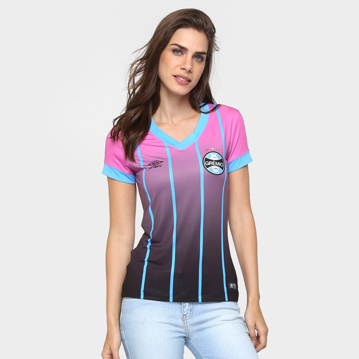 62b259a039b7f Camisa Feminina Umbro Grêmio Outubro Rosa 2016 s nº - Compre Agora ...