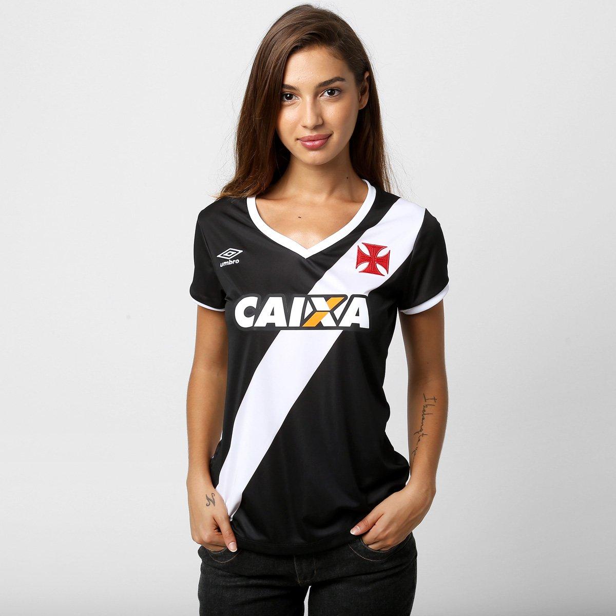 bda5ee55f8 Camisa Feminina Umbro Vasco I 14 15 s nº - Compre Agora