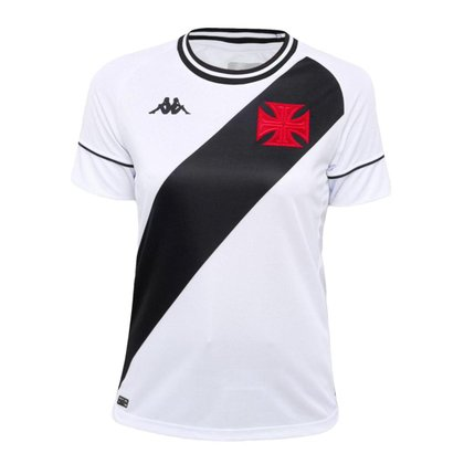Camisa Feminina Vasco 2021 Away Branca Kappa Oficial S/N