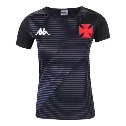 Camisa Feminina Vasco 2021 Home Preta Treino Supporter