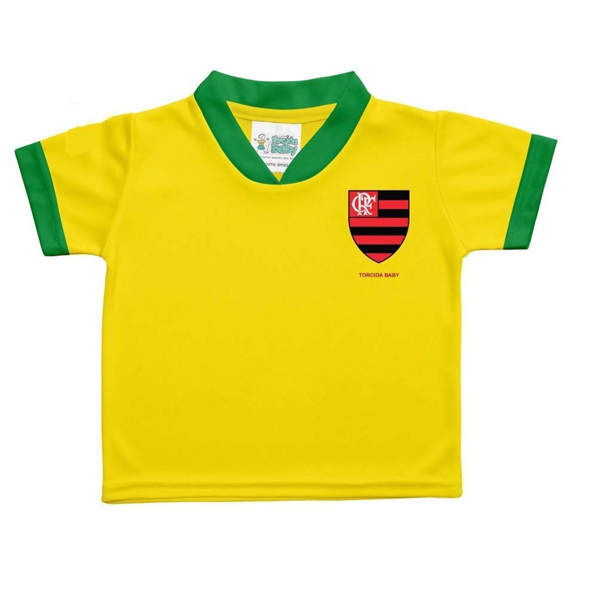 Camisa Flamengo Brasil Infantil Torcida Baby - Verde e Amarelo ... 08398626e8fb9
