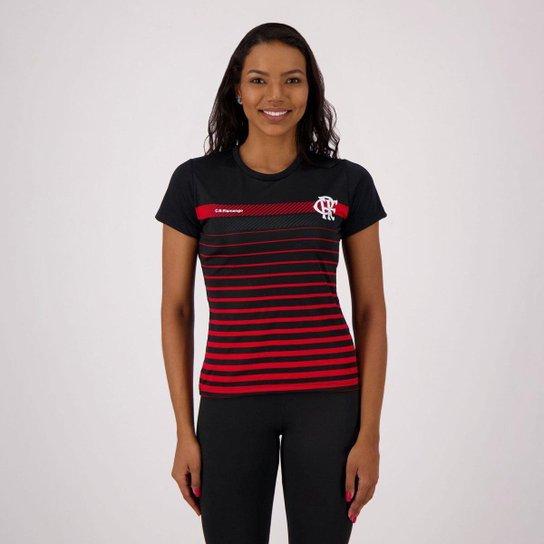 Camisa Flamengo Date Feminina - Preto