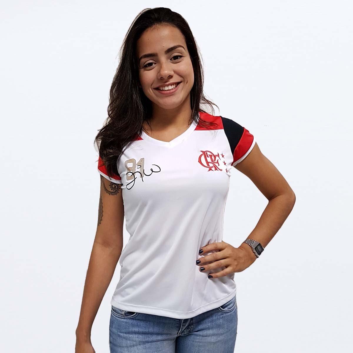 Camisa Flamengo Feminina Retro Zico - Compre Agora  afc4bbe512418
