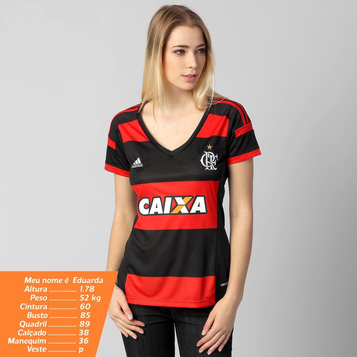 Camisa Flamengo I 14 15 s nº Torcedor Adidas Feminina - Compre Agora ... b69361b7b97ee