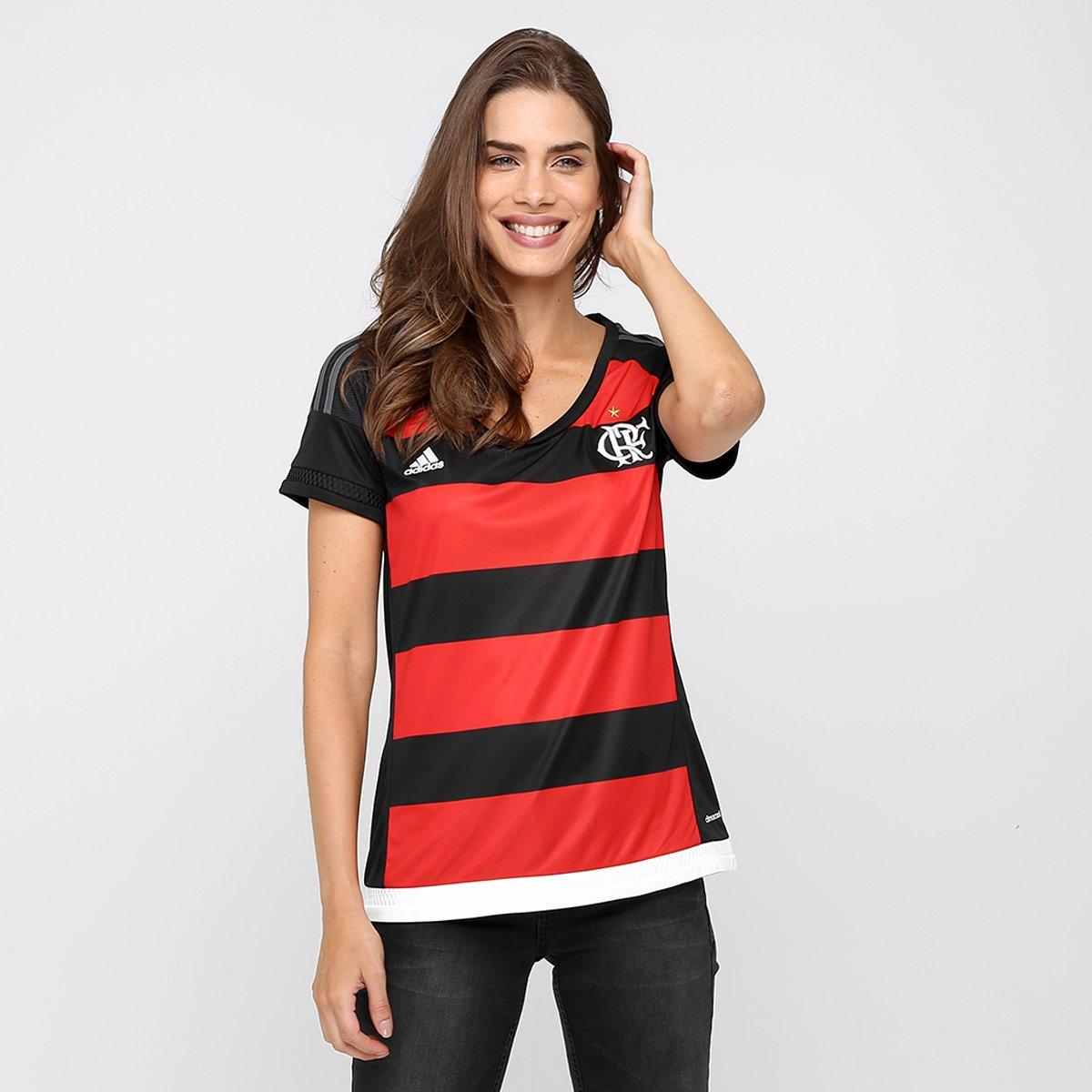 eb7c587c18 Camisa Flamengo I 15 16 s nº Torcedor Adidas Feminina - Compre Agora ...