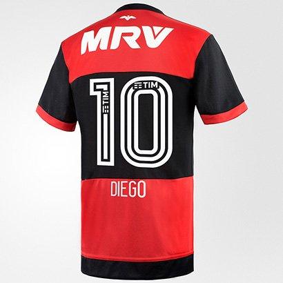 6a5542e7d58f8f Camisa Flamengo I 17/18 N° 10 - Diego Torcedor Adidas Masculina | Netshoes