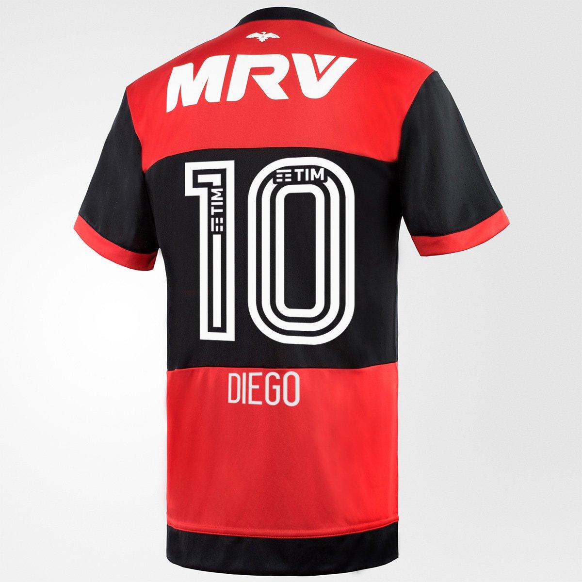 Camisa Flamengo I 17 18 N° 10 - Diego Torcedor Adidas Masculina - Compre  Agora  1a683bf6b1c5a