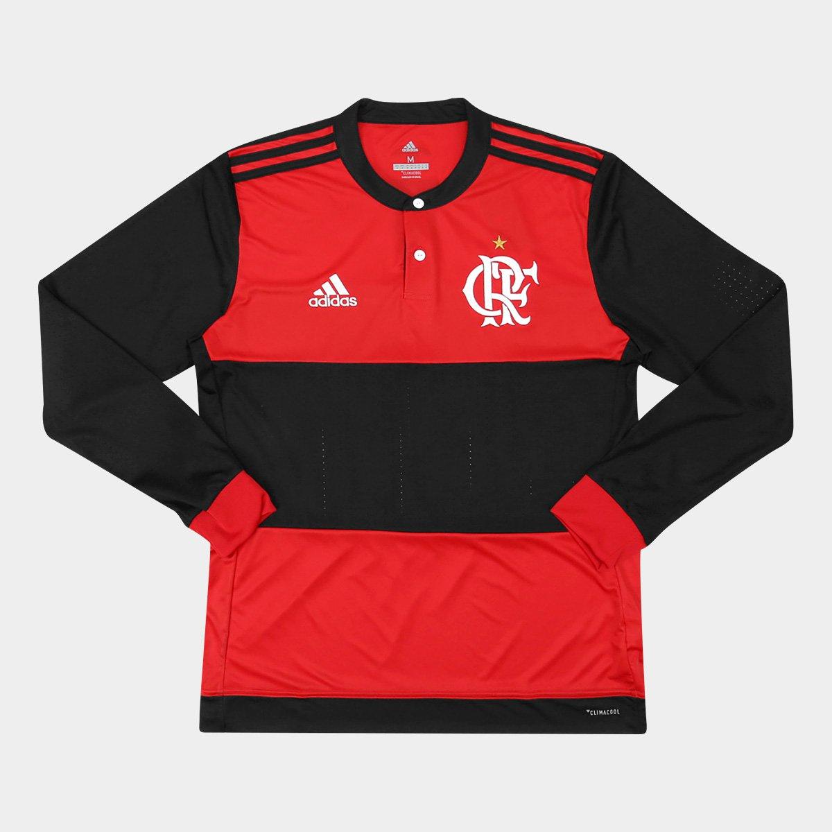 110dc50958ee6 Camisa Flamengo I 17 18 s nº Manga Longa - Torcedor Adidas Masculina -  Compre Agora