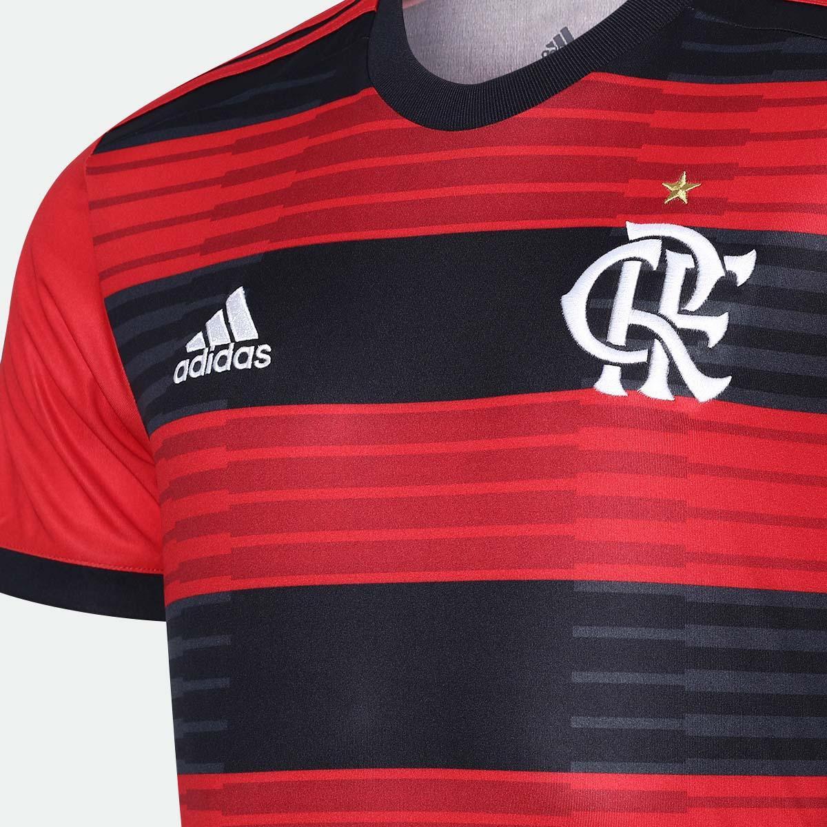 Camisa Flamengo I 2018 s n° Torcedor Adidas Masculina - Vermelho e ... f227c337afb87
