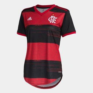 Camisa Flamengo I 20/21 s/n° Torcedor Adidas Feminina