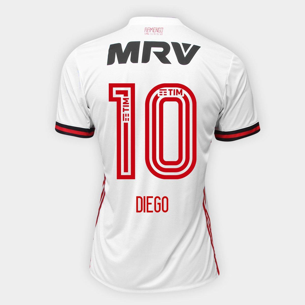 7c063618f65706 Camisa Flamengo II 17/18 N° 10 - Diego Torcedor Adidas Masculina | Netshoes