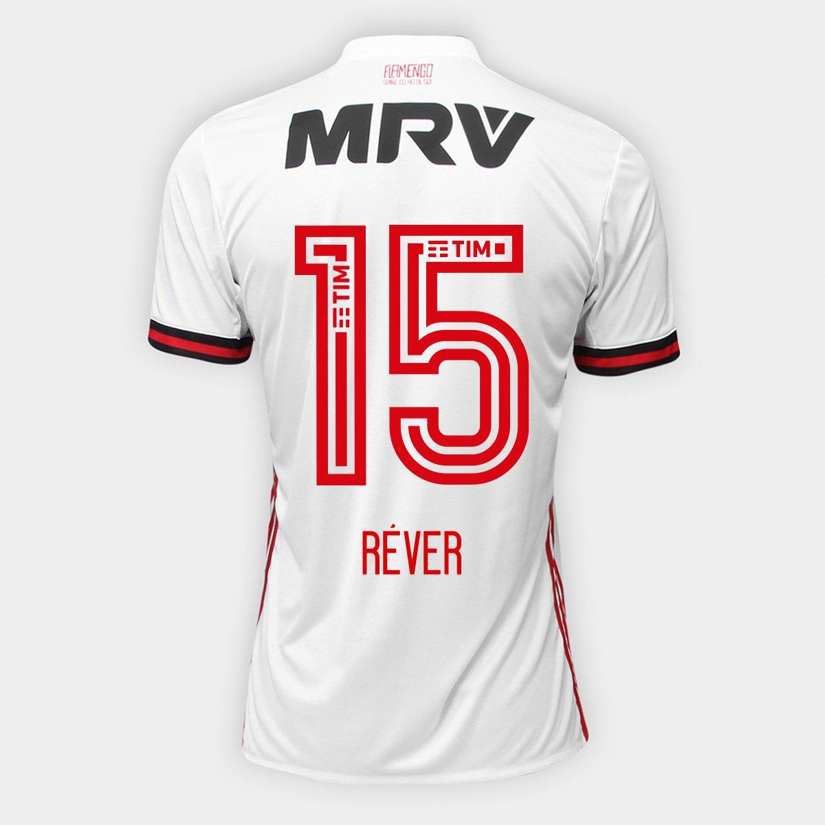 f91aa1212d010 Camisa Flamengo II 17 18 N° 15 - Réver Adidas Masculina - Compre Agora