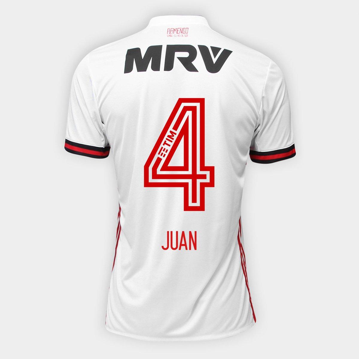 63a945e537 Camisa Flamengo II 17 18 N° 4 - Juan Torcedor Adidas Masculina - Compre  Agora