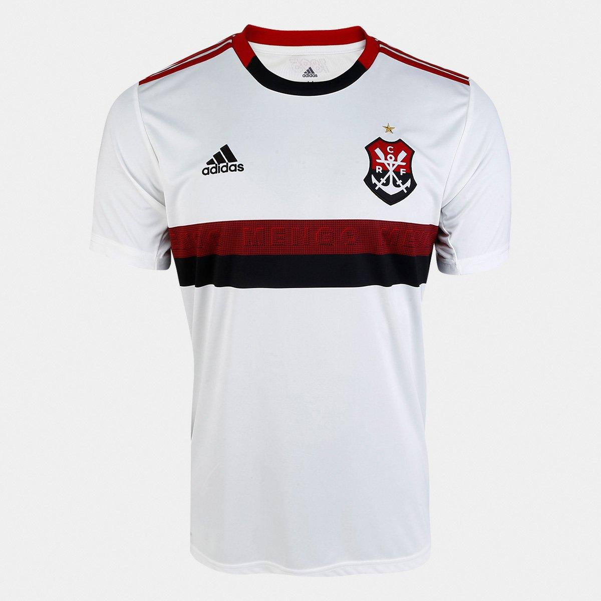 668adef5f Camisa Flamengo II 19 20 s nº Torcedor Adidas Masculina - Branco e Vermelho