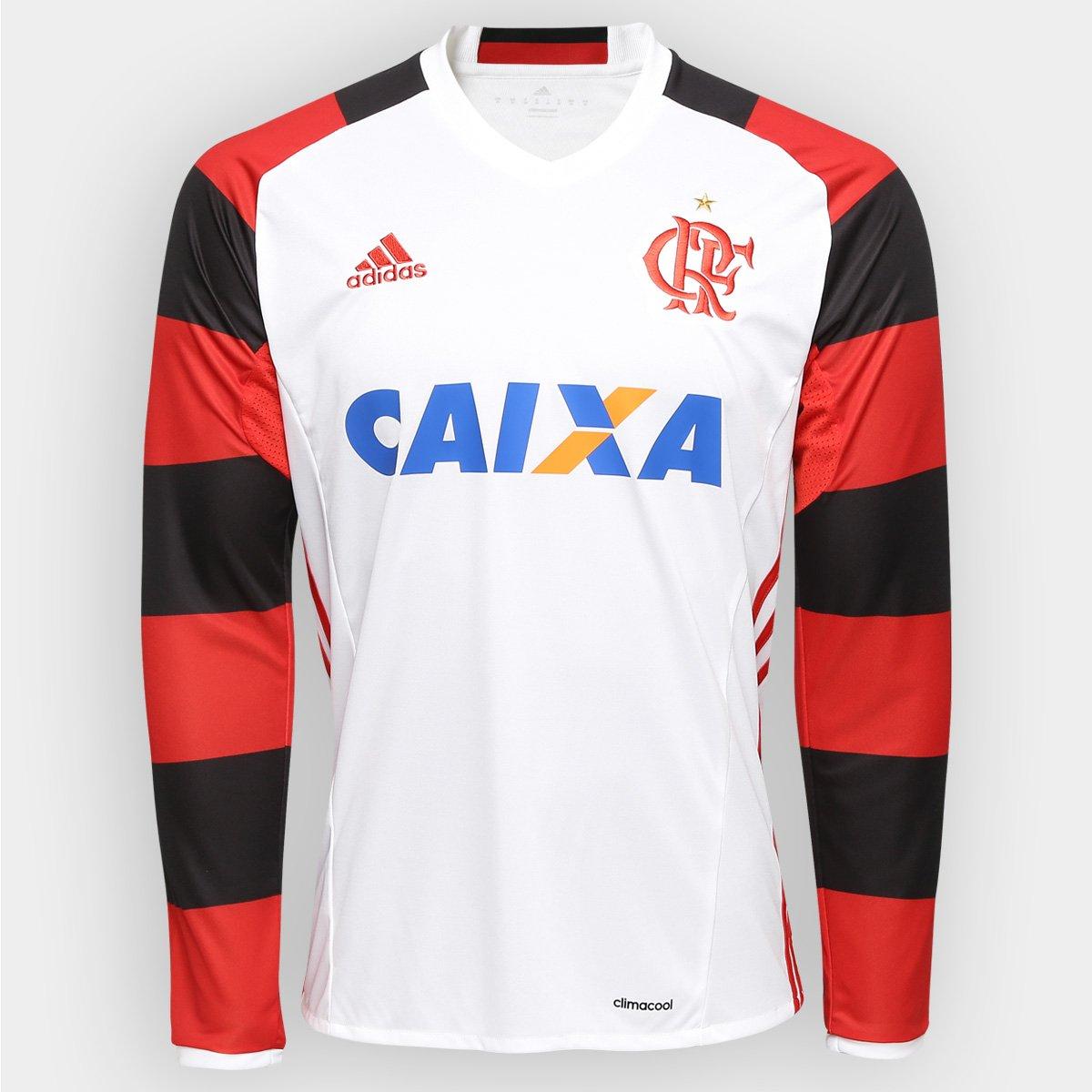 Camisa Flamengo II 2016 s nº ML Torcedor Adidas Masculina - Compre Agora  2d382ff0a3a87