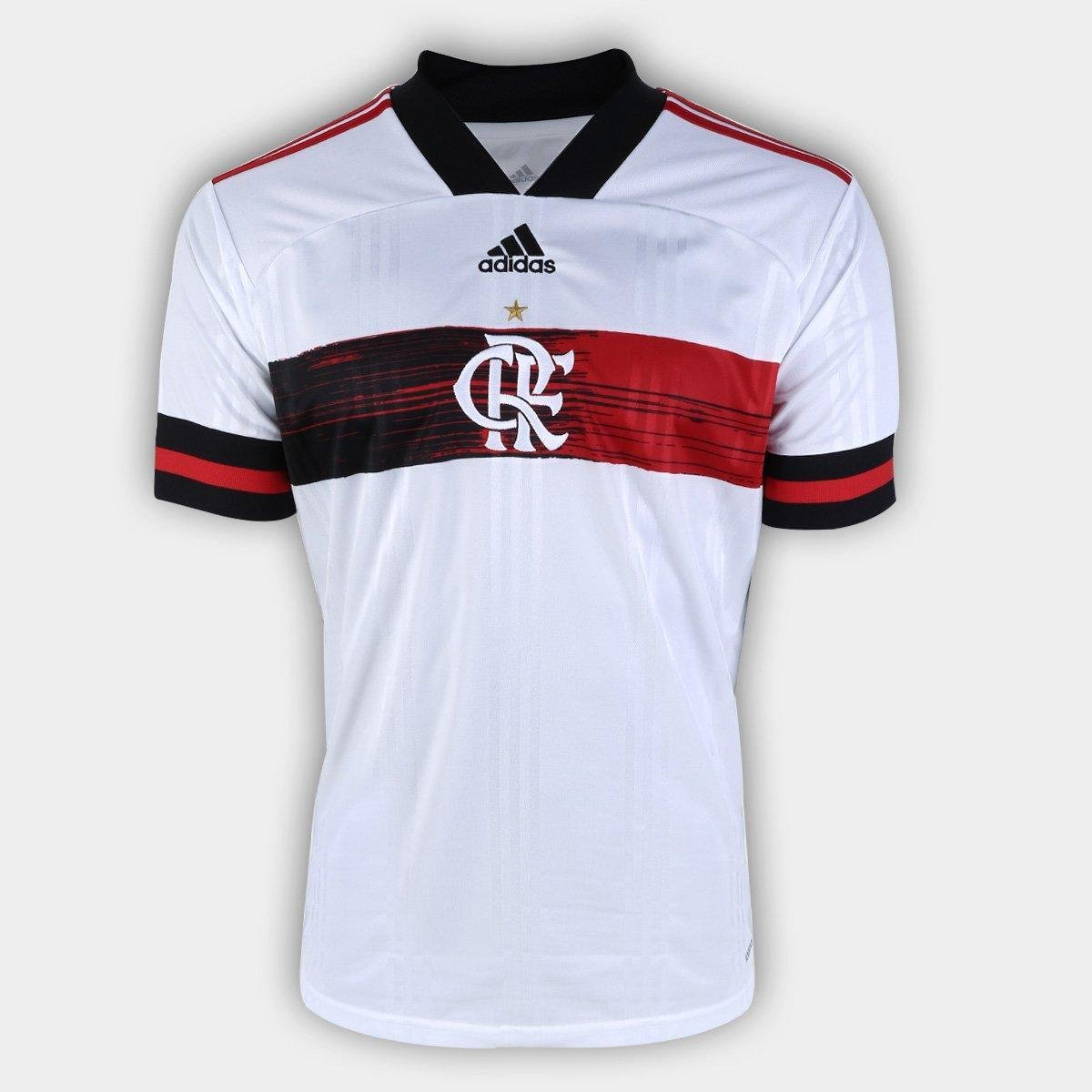 Camisa Flamengo II 20/21 s/n° Torcedor Adidas Masculina - Branco