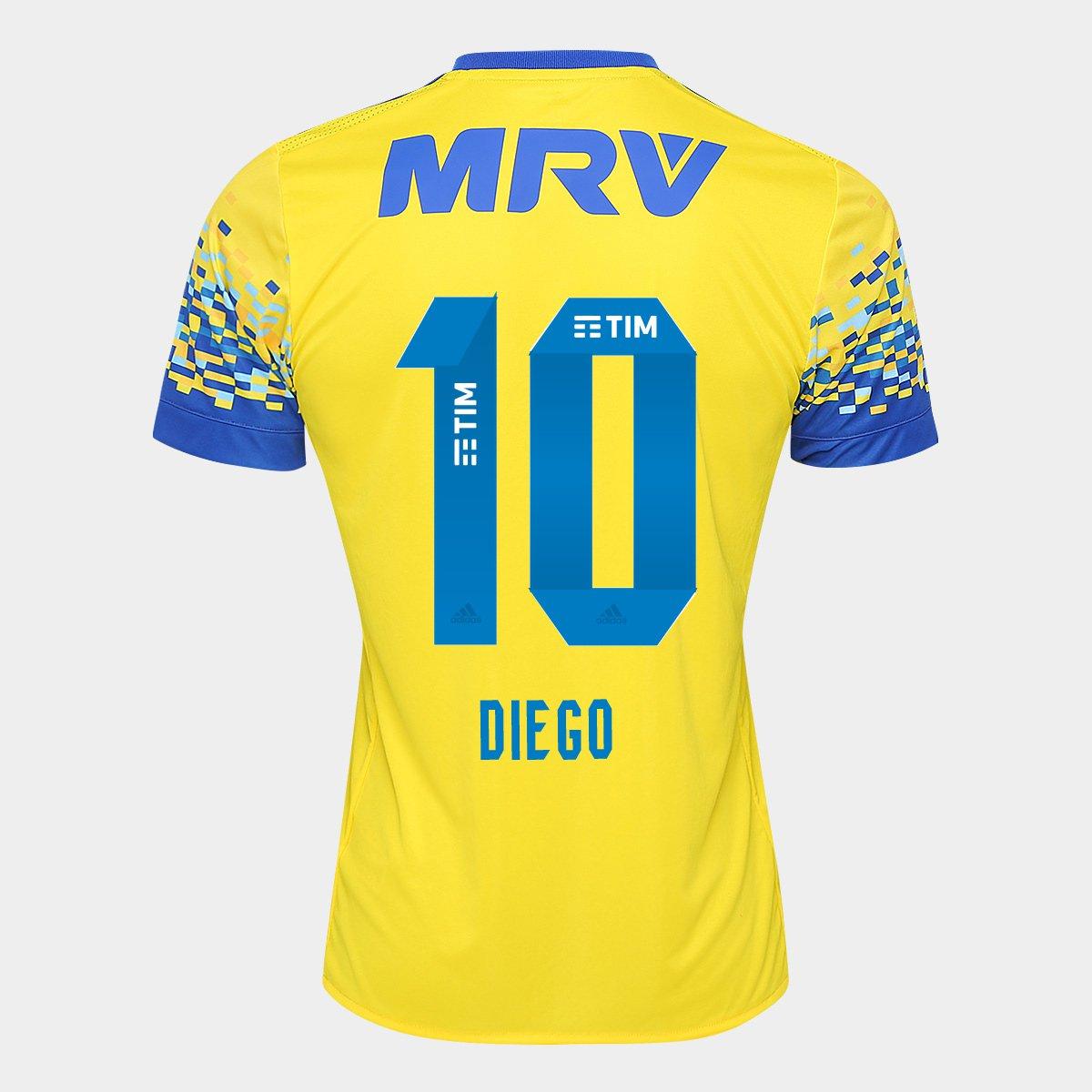 Camisa Flamengo III 17 18 N° 10 - Diego Torcedor Adidas Masculina - Compre  Agora  bf9bc3e4b0f28