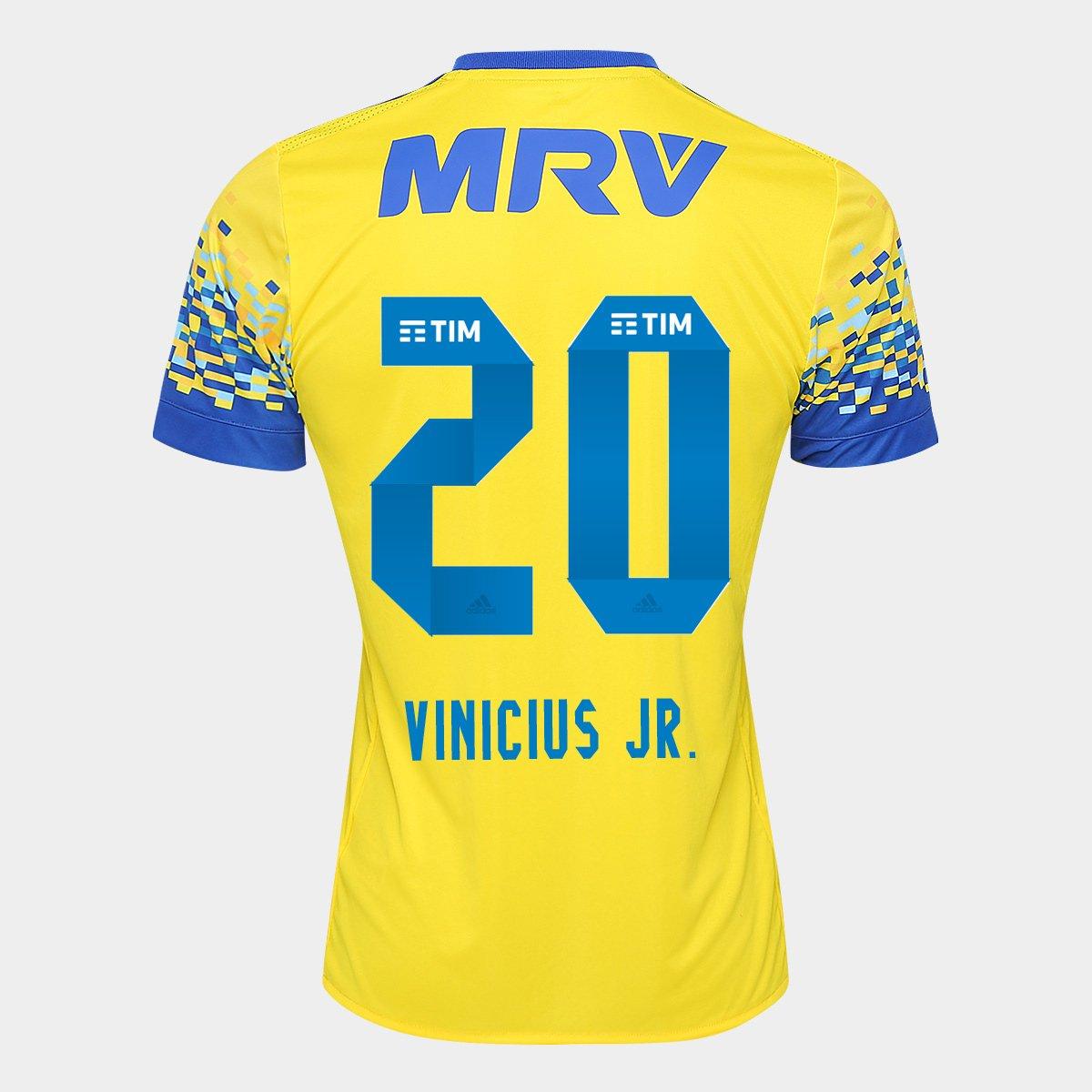 Camisa Flamengo III 17 18 N° 20 - Vinicius Jr. Torcedor Adidas Masculina - Compre  Agora  a99302bd7dc