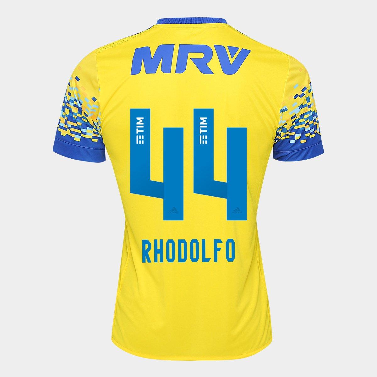 4220c84e23 Camisa Flamengo III 17 18 N° 44 - Rhodolfo Torcedor Adidas Masculina -  Compre Agora