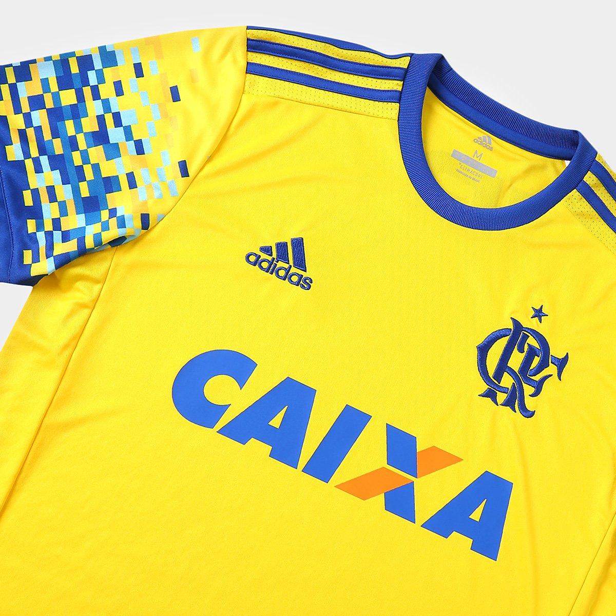 Camisa Flamengo III 17 18 s nº Torcedor Adidas Masculina - Compre ... 3f0c784bbb8aa