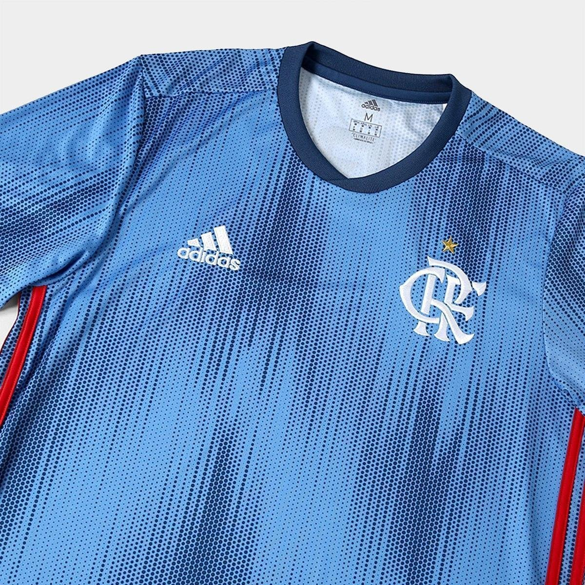 Camisa Flamengo III 2018 s n° - Torcedor Adidas Masculina - Azul ... 7217a7e0ca994